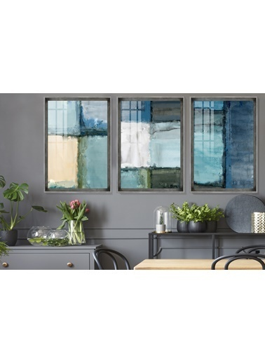 Çerçeve Home  Green Life Inox Çerçeve Tablo Seti Füme